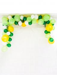 Kit arco di 70 palloncini in lattice tropical