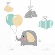 20 tovaglioli compostabili piccolo elefante