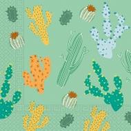 20 tovaglioli compostabili tema cactus
