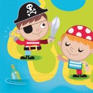 20 tovaglioli compostabili piccoli pirati