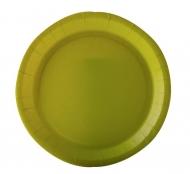 10 piatti in cartone verde anice 22 cm