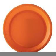 10 piatti in cartone arancione 22 cm