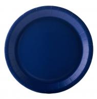 10 piatti in cartone blu 22 cm