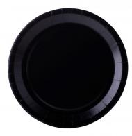 10 piatti in cartone neri 22 cm
