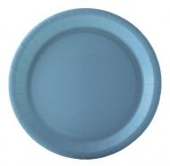 10 piatti in cartone celesti 22 cm