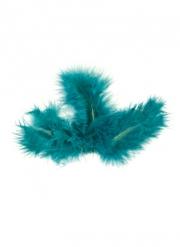20 piume decorative color turchese