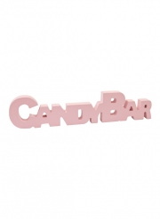 Decorazione in legno Candy Bar rosa