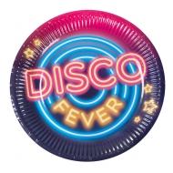 6 piatti in cartone Disco Fever 23 cm