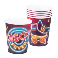 6 bicchieri in cartone Disco Fever