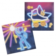 12 tovaglioli di carta Disco Fever