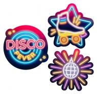 3 decorazioni in cartone Disco Fever