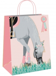 4 sacchetti regalo rosa cavallo