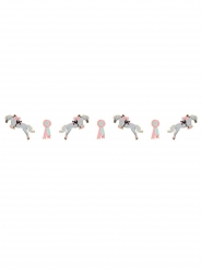 Ghirlanda in cartone rosa cavalli