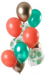 12 palloncini in lattice mix tropicale