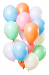 12 palloncini pastello in lattice