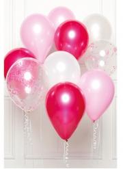 10 palloncini in lattice rosa DIY