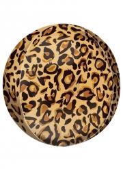 Palloncino alluminio stampa leopardo
