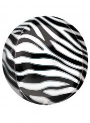Palloncino alluminio stampa zebra
