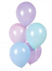 10 palloncini in lattice colori pastello