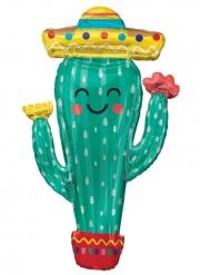 Palloncino gigante in alluminio cactus in festa