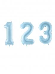 Palloncino gigante numero blu pastello