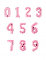Palloncino gigante numero rosa pastello
