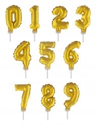 Decorazione torta palloncino con numero dorato