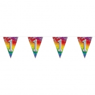 Ghirlanda di bandierine multicolor con numero