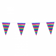 Ghirlanda di bandierine arcobaleno metallizzate