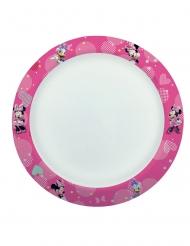 8 piatti compostabili Minnie e Paperina™ 24 cm