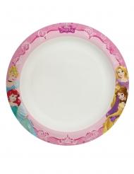 8 piatti in cartone compostabile Principesse Disney™ 24 cm