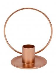 Candeliere cerchio in metallo oro rosa
