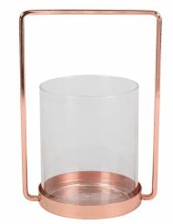 Portacandele in vetro e cornice oro rosa