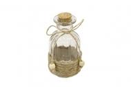 Bottiglia in vetro con corda 11 x 6,5 cm