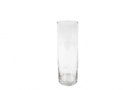 Vaso cilindrico in vetro 8 x 25 cm