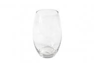 Vaso ovale in vetro 12 x 19 cm