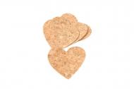 10 Coriandoli cuore in sughero 8,3 x 7 cm