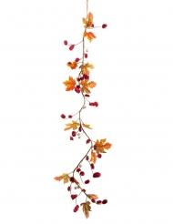 Ghirlanda autunnale di foglie rosse