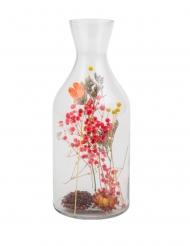 Bottiglia con fiori secchi colorati 11 x 27,5 cm