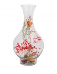 Vaso con fiori secchi colorati 14 x 27 cm