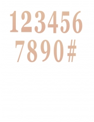 12 numeri adesivi oro rosa