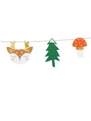 Ghirlanda di carta foresta di Natale
