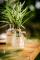 Vasetto in vetro e merletti in pizzo misura 10cm-1