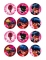 12 Decorazioni di zucchero per biscotti Ladybug™