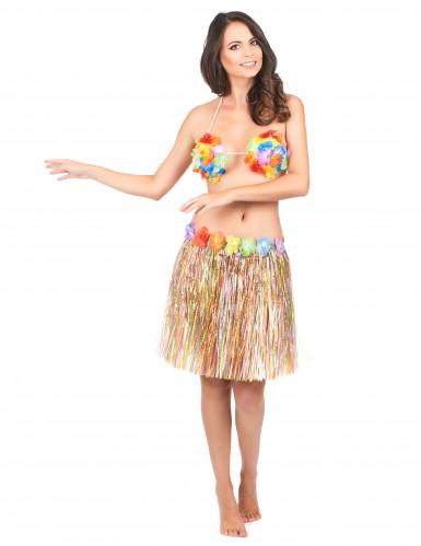 Gonna hawaiana multicolor adulto