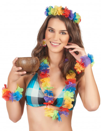 Kit colorato Hawaii da donna