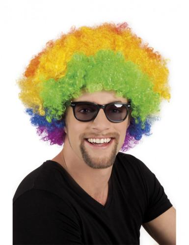 Parrucca multicolore per adulti un stile afro
