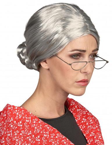 Parrucca grigia da anziana per donna