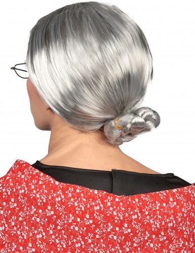 Parrucca grigia da anziana per donna-1