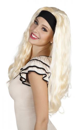 Parrucca da donna con capelli lunghi e biondi